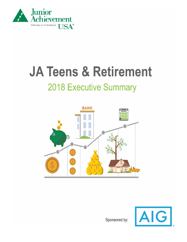 2018 JA Teens and Retirement